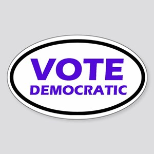 Vote Democratic Oval Sticker