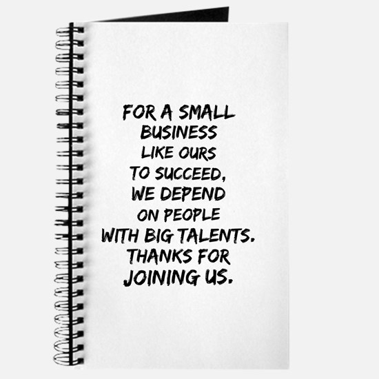 Small business depends it's employees Journal