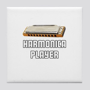 Harmonica Player Tile Coaster