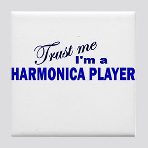 Trust Me I'm a Harmonica Play Tile Coaster