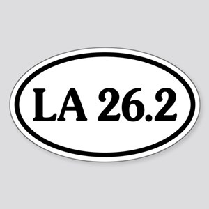 Los Angeles 26.2 Oval Oval Sticker