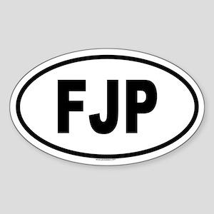 FJP Oval Sticker