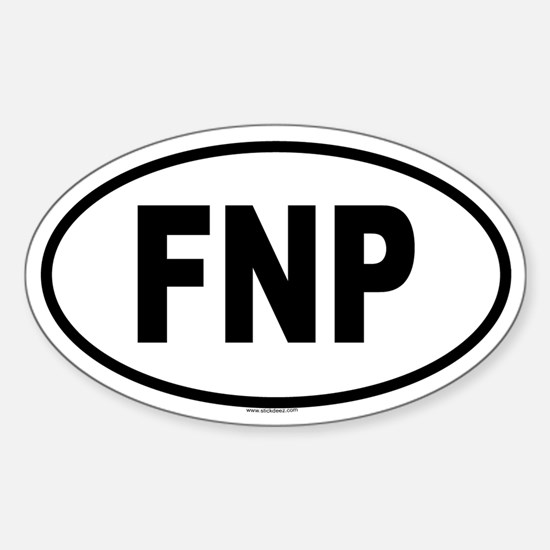FNP Oval Decal