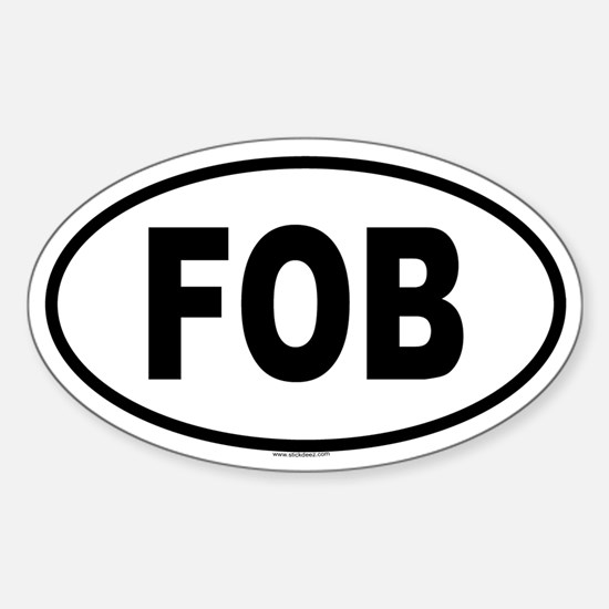 FOB Oval Decal