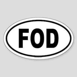 FOD Oval Sticker