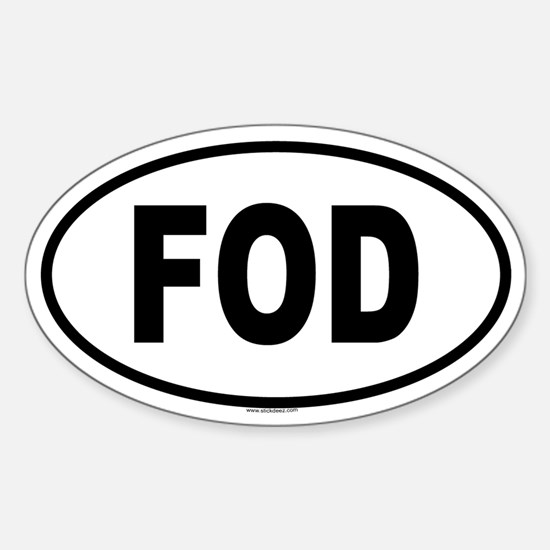 FOD Oval Decal