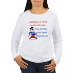 you are free 2 vote republica Women's Long Sleeve
