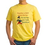 you are free 2 vote republica Yellow T-Shirt
