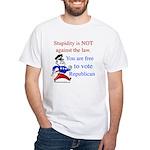 you are free 2 vote republica White T-Shirt