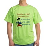 you are free 2 vote republica Green T-Shirt