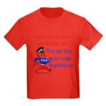 you are free 2 vote republica Kids Dark T-Shirt