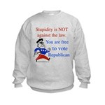 you are free 2 vote republica Kids Sweatshirt