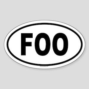 FOO Oval Sticker