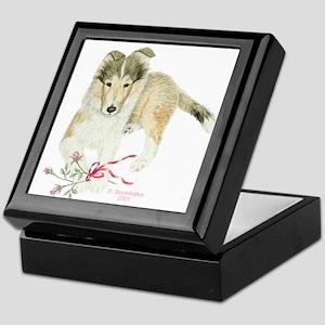 Collie Puppy Keepsake Box
