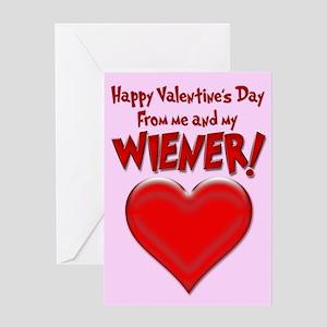 Valentine's Day Wiener Greeting Card