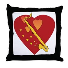 Bass Clarinet Heartsong Throw Pillow
