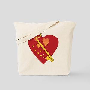 Bass Clarinet Heartsong Tote Bag