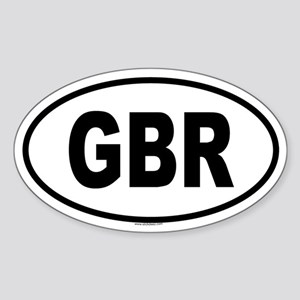 GBR Oval Sticker
