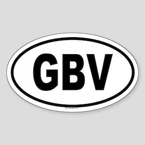 GBV Oval Sticker