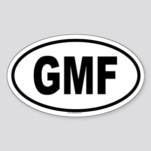 GMF Oval Sticker