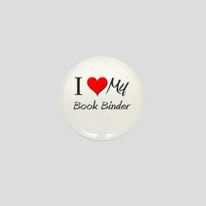 I Heart My Book Binder Mini Button