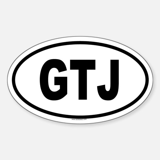 GTJ Oval Decal