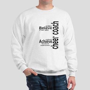 """Cheer Coach """"believe"""" Sweatshirt"""