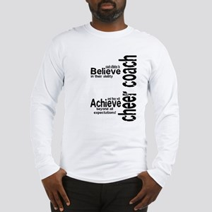 "Cheer Coach ""believe"" Long Sleeve T-Shirt"