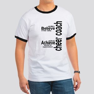 """Cheer Coach """"believe"""" Ringer T"""