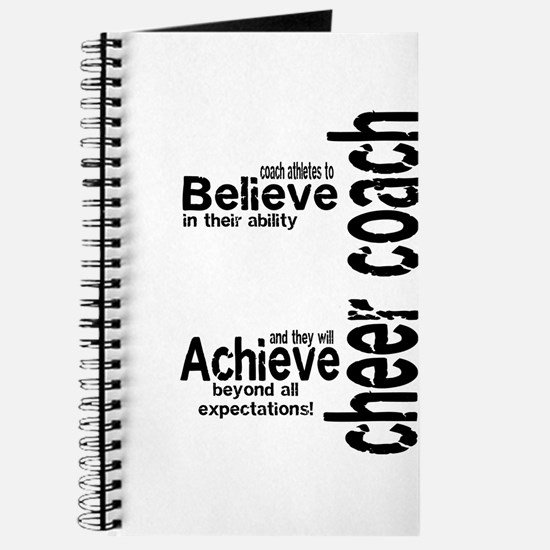 "Cheer Coach ""believe"" Journal"