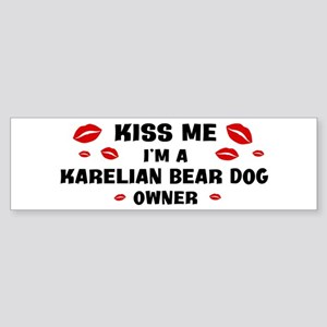 Kiss Me: Karelian Bear Dog ow Bumper Sticker
