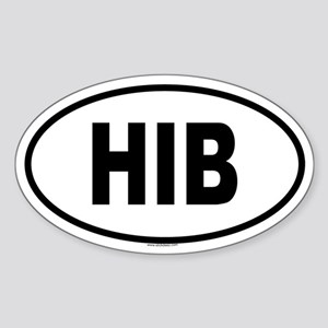 HIB Oval Sticker