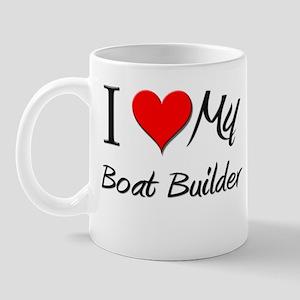 I Heart My Boat Builder Mug