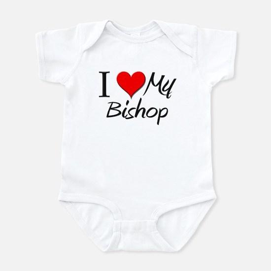 I Heart My Bishop Infant Bodysuit