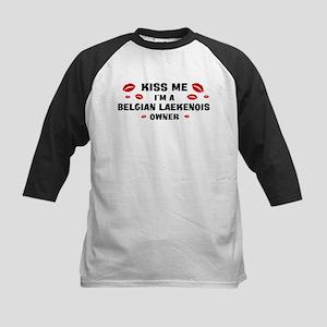 Kiss Me: Belgian Laekenois ow Kids Baseball Jersey