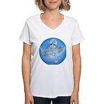 Saraswati Women's V-Neck T-Shirt