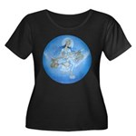 Saraswati Women's Plus Size Scoop Neck Dark T-Shir