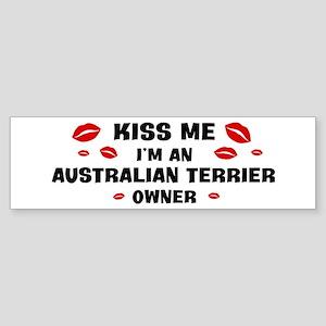 Kiss Me: Australian Terrier o Bumper Sticker