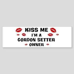 Kiss Me: Gordon Setter owner Bumper Sticker