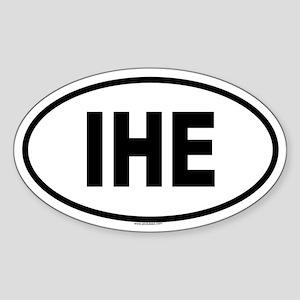 IHE Oval Sticker