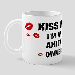 Kiss Me: Akita owner Mug