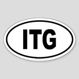 ITG Oval Sticker