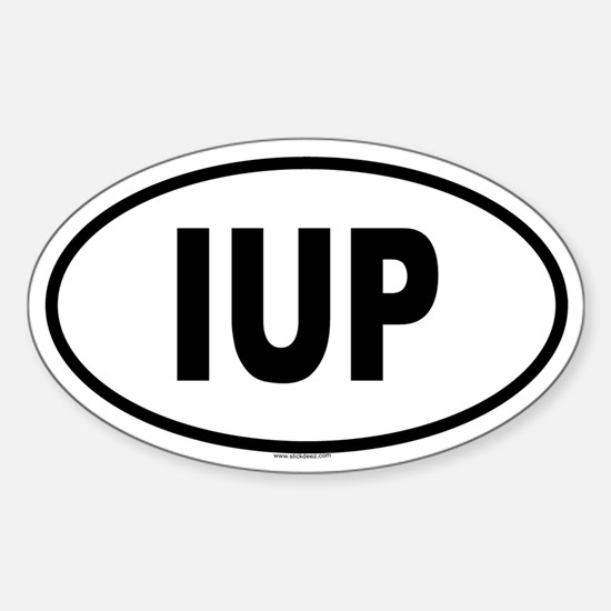 IUP Oval Decal