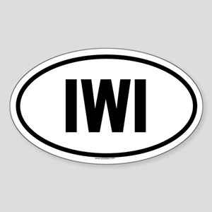 IWI Oval Sticker