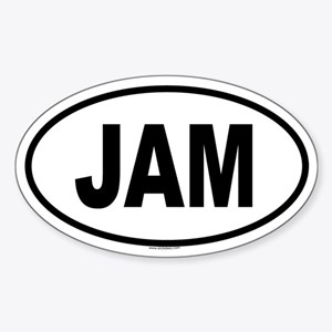 JAM Oval Sticker