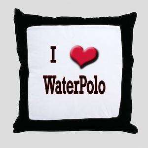 I Love (Heart) Water Polo Throw Pillow