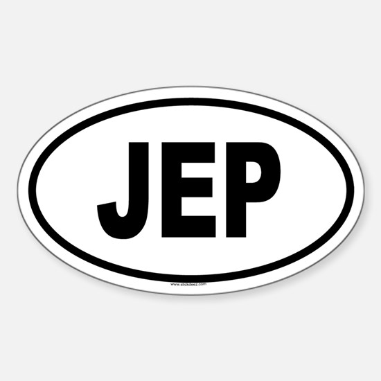 JEP Oval Bumper Stickers