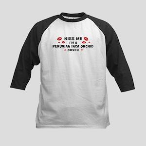 Kiss Me: Peruvian Inca Orchid Kids Baseball Jersey