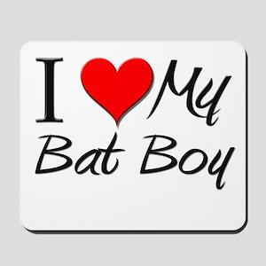 I Heart My Bat Boy Mousepad