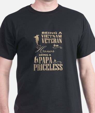 Papa Is Priceless T Shirt, Vietnam Veteran T-Shirt